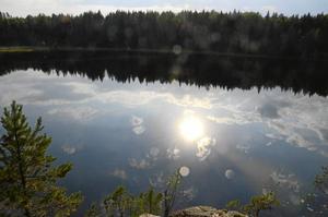 Vy över Snårsjön.