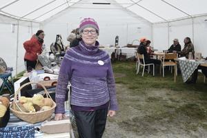 Birgitta Lindh Andersson var nöjd med uppslutningen på skördefesten i Långå.