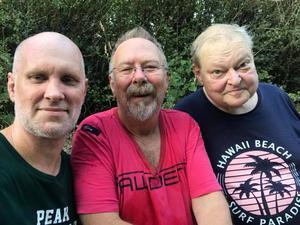 """Trion """"Sundlöf – Wiklund – Pettersson"""" består av just Mats Pettersson (från vänster), Göran Wiklund och Stefan Sundlöf. Foto: Privat"""