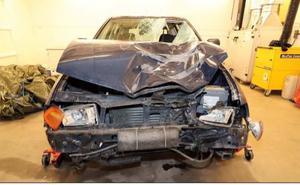 Bilen, avställd och belagd med körförbud, hittades övergiven i närheten av platsen där Elsa blev påkörd. Den tekniska undersökningen visade att fordonets bromsar och styrsystem var bristfälliga.