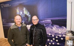 Per Hallberg och Michael Myntelius på Radonkonsult i Norrtälje tycker att det är bra att det sätts fokus på radonfrågan nu.