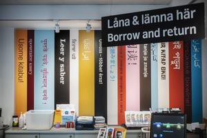 Internationella biblioteket vid Odenplan ligger i ett annex vid Stockholms stadsbibliotek. I september stängs biblioteket, som har böcker och andra medier på 121 språk, och delar av verksamheten flyttar in i Kungsholmens stadsdelsbibliotek.   Foto: Simon Rehnström / SvD / TT / Kod: 30386** OUT DN, Dagens Industri (även arkiv), Metro och Expressen **