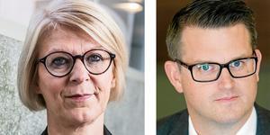 Moderaternas Elisabeth Svantesson och Anders Åhrlin efterlyser krafttag mot de kriminella gängen.