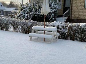 Kanske läge för en vintrig picknick i Lockebo? Foto: Meti Uka