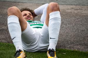 Emir Smajic tvingades kliva av skadad efter bara tio spelade minuter. Foto: Anders Forngren / BILDBYRÅN