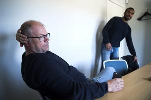 Kent Norberg och klubbchefen Jörgen Wahlberg presenterade en helhetslösning för Jeremy Boyce under mötet efter lunch.
