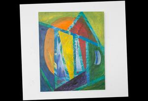 Segelbåtar med blå segel i solnedgång? Geometriska former blir till olika bilder i betraktarens öga.