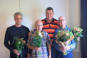 Från vänster: Thomas Bolinder, Inge Näslund, Jahn Radgren och Arne Arousell.