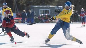 Sverige gjorde  processen kort mot Norge även i semifinalen och är nu klara för VM-final. Bild. Gert Holmer/TT.