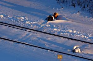 Spårfel, på grund av vädret, orsakar störningar i tågtrafiken.