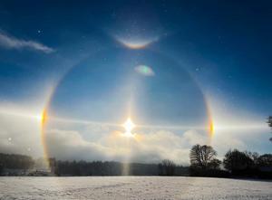 Evve Gustafsson fångade den här bilden av fenomenet. Foto: Evve Gustafsson