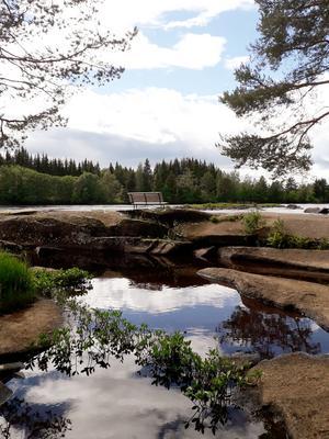 Fänforsen i Björbo besökte jag efter att ha sett Vansbrosimningen. En mycket fin rastplats. Foto: Leena Sjöholm