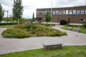 Planen är att bygga ut Leksandshallen i den västra delen av Paradparken.