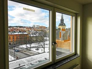 Utsikt från en av lägenheterna i Grand central.