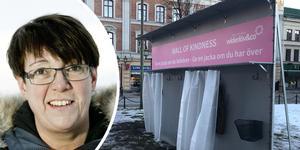 Monica Gunnarsson, direktor vid Stadsmissionen i Örebro, tycker att det var ett bra tillfälle att nappa på erbjudandet att sätta upp en