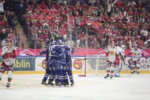 Äntligen fick Leksand jubla hemma i Tegera Arena.