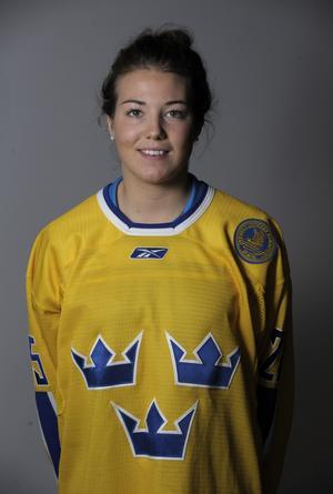 Klara Myrén i landslagströjan inför Vancouver-OS 2010.