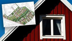 18 nya radhus kan byggas i Surbrunnshagen. Bilden är ett montage. Foto: TT/Kopparstaden