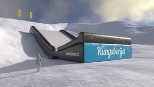 Här är den nya attraktionen Big Air Bag Landing. Bild: Kungsberget
