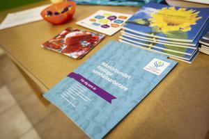 Många informationsblad fanns att ta del av på Söderhamns stadsbibliotek under onsdagen.