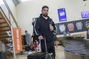 Rapparen Stor anländer till Gotland för inspelning av