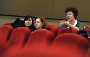 Ett fåtal besökare satte sig inomhus på lördagen för att se invigningsfilmen på Filmfest Bollnäs,
