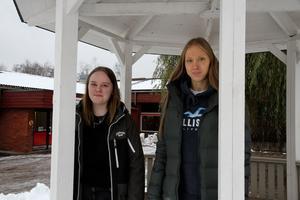 Linn Carnedal och Johanna Södergård är nöjda över slutresultatet.