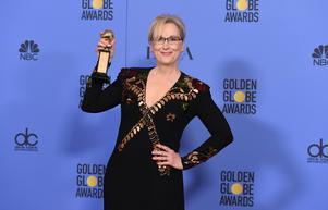 Hon är bland de första, men definitivt inte den sista kultur- och nöjespersonlighet som gör det under året. Meryl Streep hamnar i bråk med Donald Trump efter Golden Globe-galan i januari. Arkivbild.