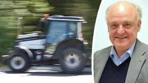 Björn Jönsson, som jobbat i traktorbranschen i många år, har aldrig tidigare sett att färg funnits med som krav i en upphandling.  Traktorn på bilden har inget att göra med artikeln.