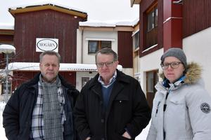 Ulf Byström, Rune Hellström och Marina Gustafsson anser att Mogårn måste rustas upp och fyllas med verksamhet.
