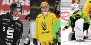 Erik Säfström, Daniel Johansson och Henrik Rehnvall är tre av spelarna i Veckans lag. Foto: TT / Andreas Tagg