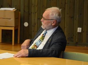 Uwe Weigel fick sitta på sidan om och lyssna när de övriga politikerna i kommunfullmäktige diskuterade hans ansvar för ordförande i gymnasieförbundet.