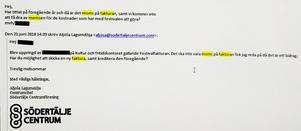I ett mejl som LT tagit del av, framgår det att kommunen varit medvetna om att man betalat fakturorna till Södertälje city med moms, för Södertäljefestivalen, trots att man varit informerade om reglerna.