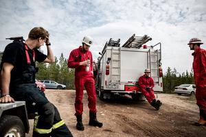 Tidningen besökte skogsbranden i Torgås den 18 juli.