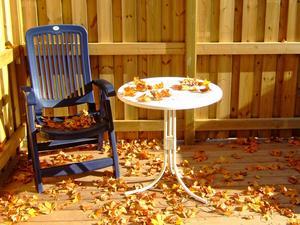 Trots sommarvärmen i förra veckan sedan så drog sig inte hösten för att göra sig påmind på sitt eget lilla vis.
