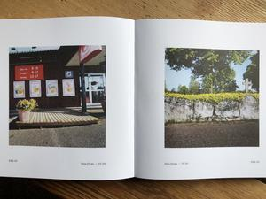 Två bilder från Dala-Floda, där fotografen José Figueroa cyklat förbi. Foto: Göran Greider.