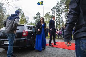 Veronica Halvarsson lyste upp i ett leende trots det gråmulna vädret.