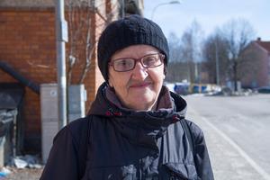 Ana Miskovic från Västanfors var en av dagens bussresenärer.