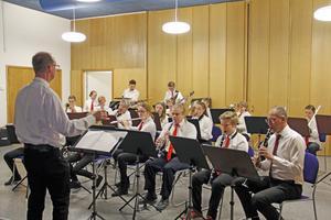 """Ungdomsmusikkåren, med deltagare från Kulturskolan, var ett självklart inslag i """"Musik i kvadrat""""."""