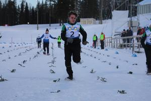 Östersundaren Erik Anth Jacobsson under 50 meters loppet.
