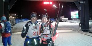 Anna Mirårs och Karolina Eriksson, Ytterhogdals IK, genomförde Nordenskiöldsloppet med den äran. Foto: Mattias Mirårs.