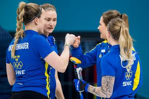 Sveriges Lag Hasselborg är klara för semifinal.Bild: Jon Olav Nesvold/Bildbyrån