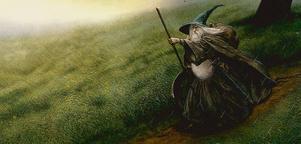 """Gandalf i """"Sagan om ringen"""", illustrerad av John Howe."""