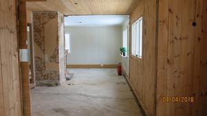 Före: Så här såg det ut när Ulf och Berit tog över huset för ett år sedan.