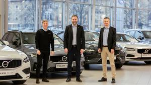 Victor Kempas, Jörgen Nordlöf  och Magnus Roslund berättar att Volvo är ett efterfrågat märke, både när det gäller begagnat och nytt, därför känns den här satsningen extra rolig.