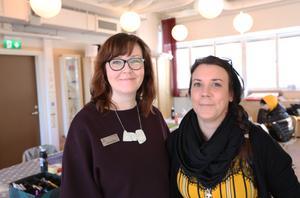 Läraren Linda Sandberg och lärarassistenten Saila Valkama: