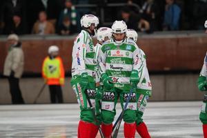 Det blev en deppig kväll i Lidköping för Patrik Sjöström, Magnus Joneby och de andra grönvita. Arkivbild.