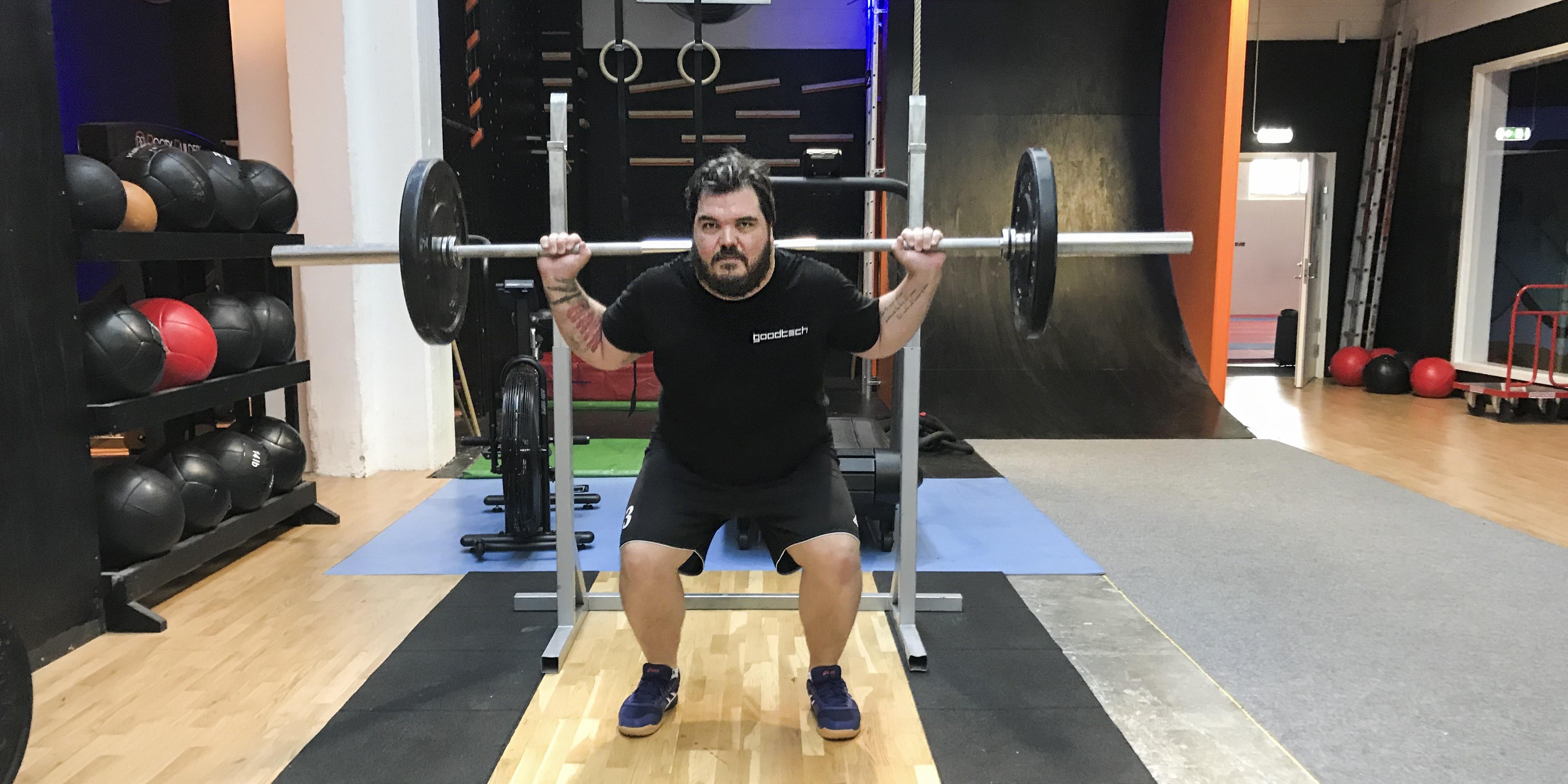 Helahälsan-Krille gör comeback på gymmet – med både puls och styrka:
