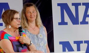 Inger Griberg och Agneta Nilsdotter (MP).