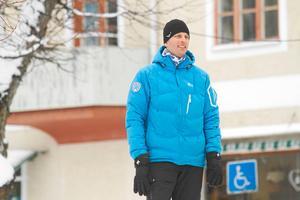 Marknadsansvarige Fredrik Persson önskar att det var tusen deltagare till i helgens tävlingar. Förhoppningen är att det blir fler åkare till nästa år.